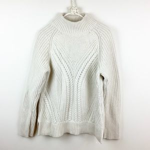 ROOTS ALPACA BLEND FISHERMEN CABLE KNIT SWEATER